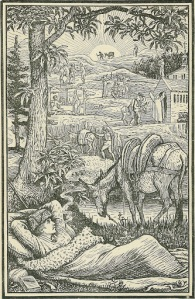 frontispiece summarising the story of my very favourite book...ever