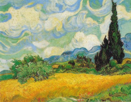 Wheat Field with Cypresses, Saint-Remy, Oil on Canvas, 1889